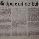 Glindpop in de krant